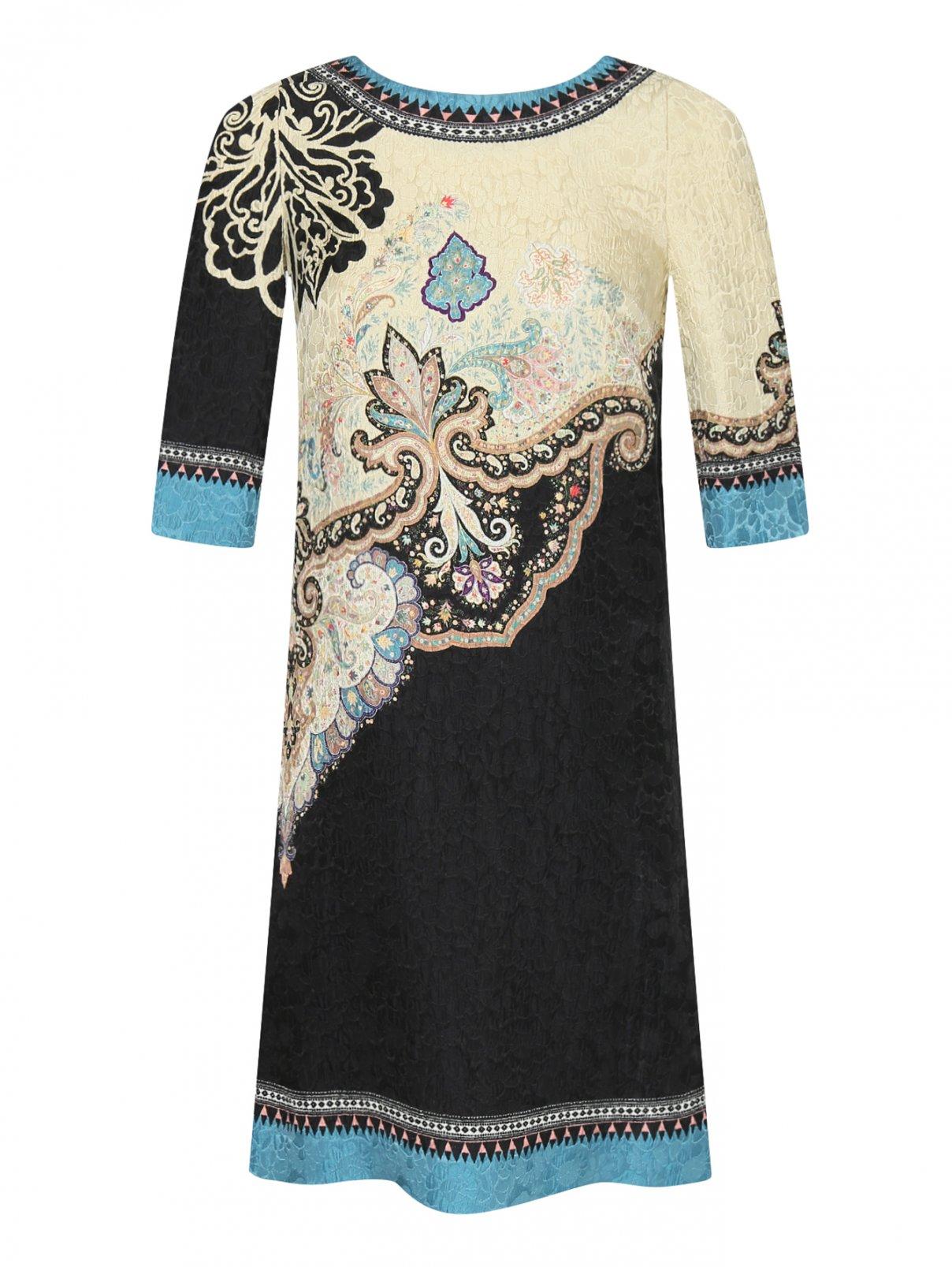 Платье прямого кроя из смеси шерсти и шелка с узором Etro  –  Общий вид
