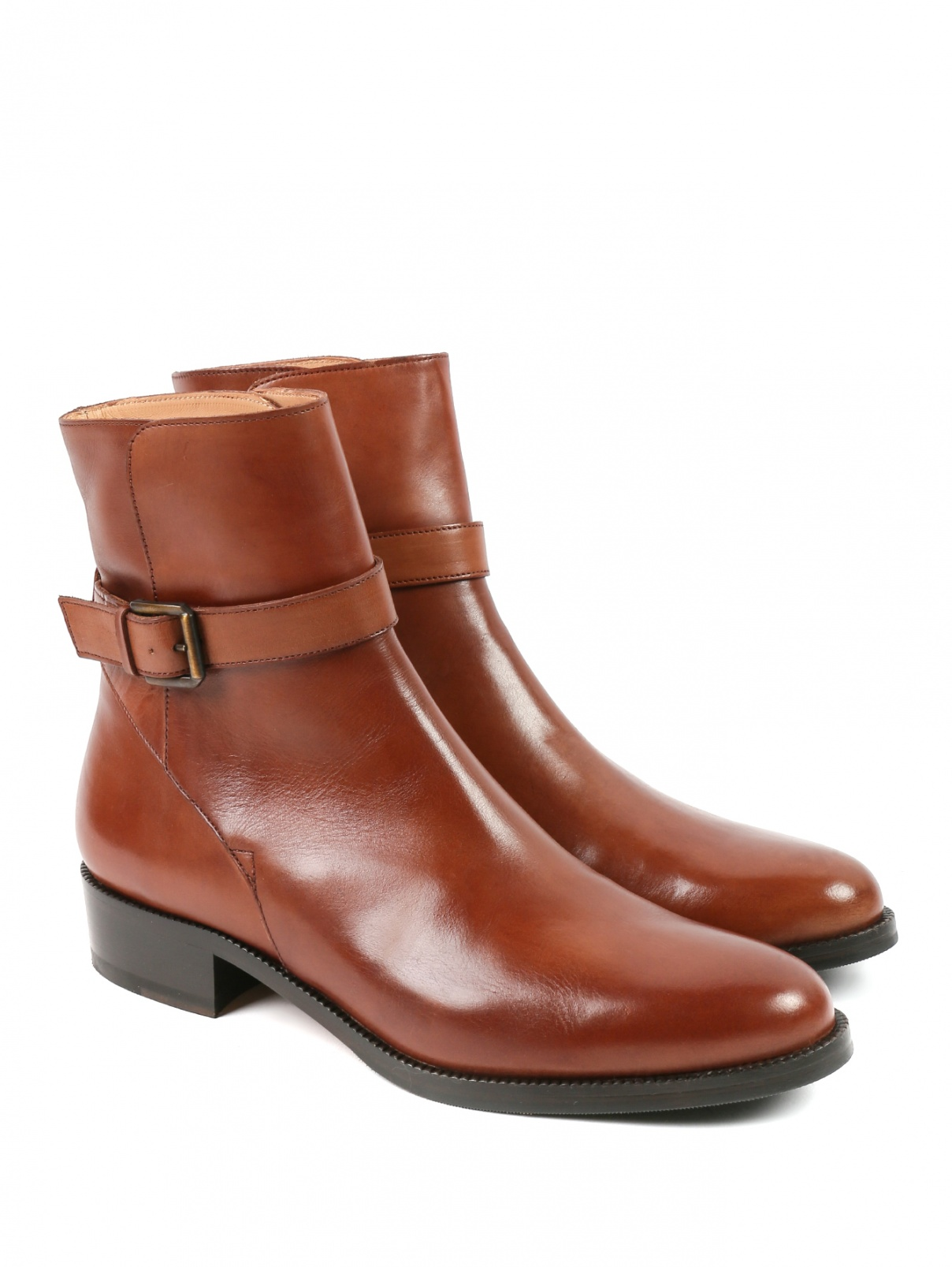 Ботинки из гладкой кожи Brooks Brothers  –  Общий вид