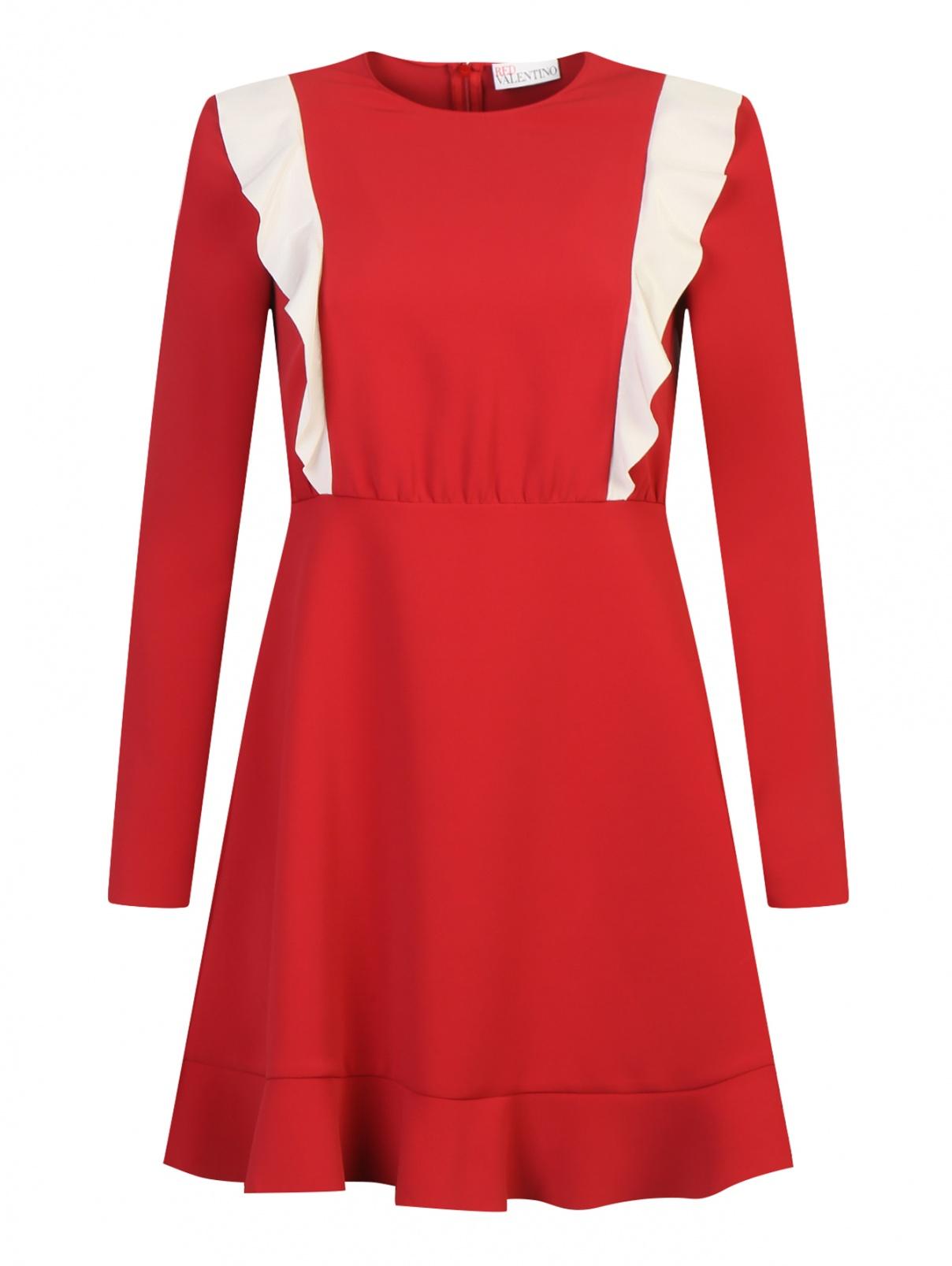 Платье-мини с контрастной отделкой Red Valentino  –  Общий вид