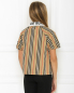 Блуза из хлопка в полоску Burberry  –  МодельВерхНиз1
