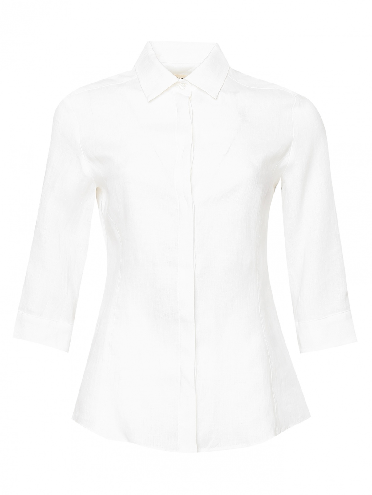 Однотонная блуза из льна Weekend Max Mara  –  Общий вид