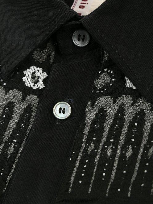 Рубашка вельветовая с узором - Деталь