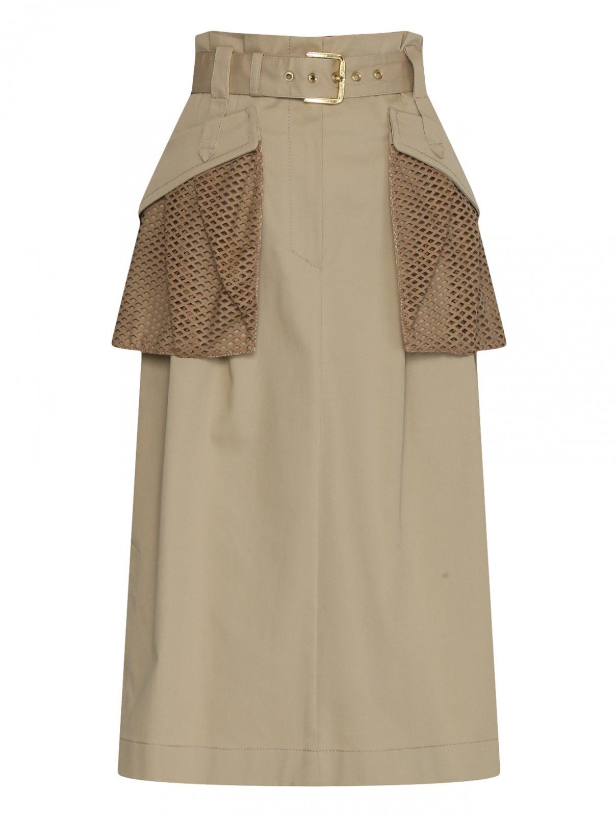 Юбка из хлопка с накладными карманами Alberta Ferretti  –  Общий вид