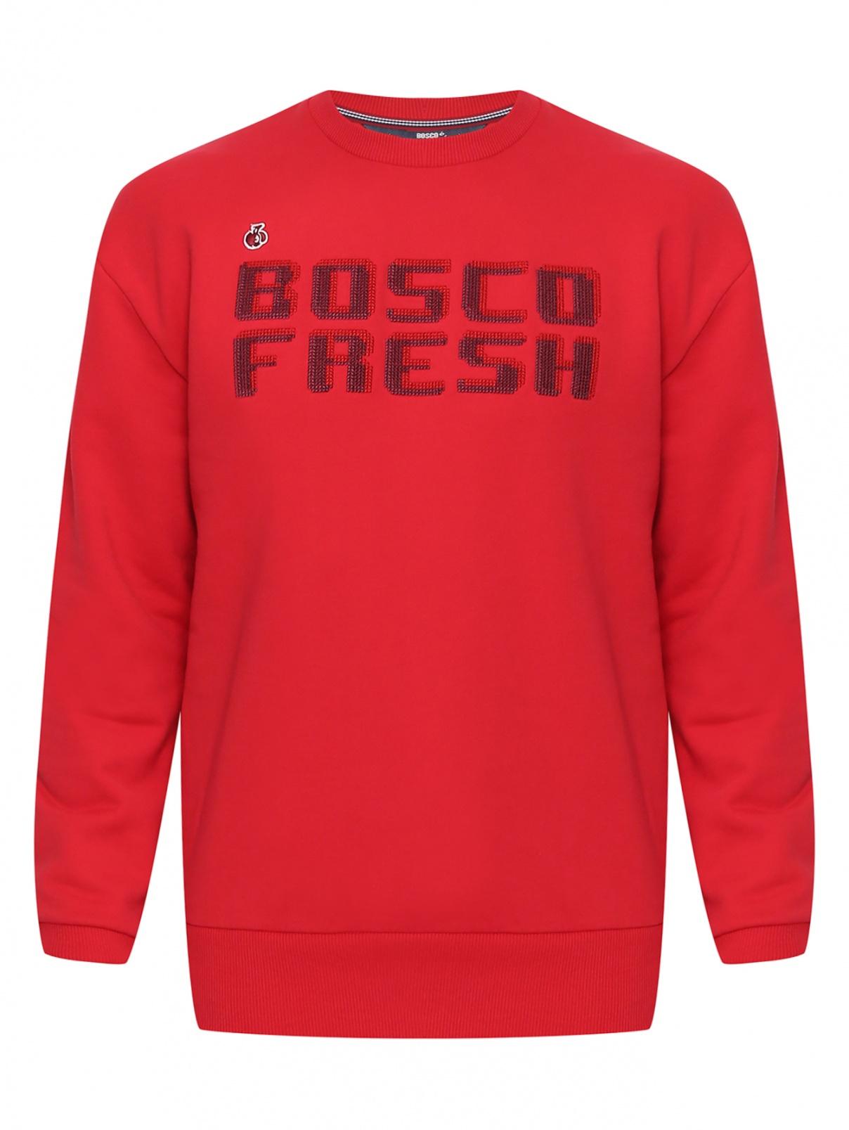 Свитшот из хлопка с узором Bosco Fresh  –  Общий вид
