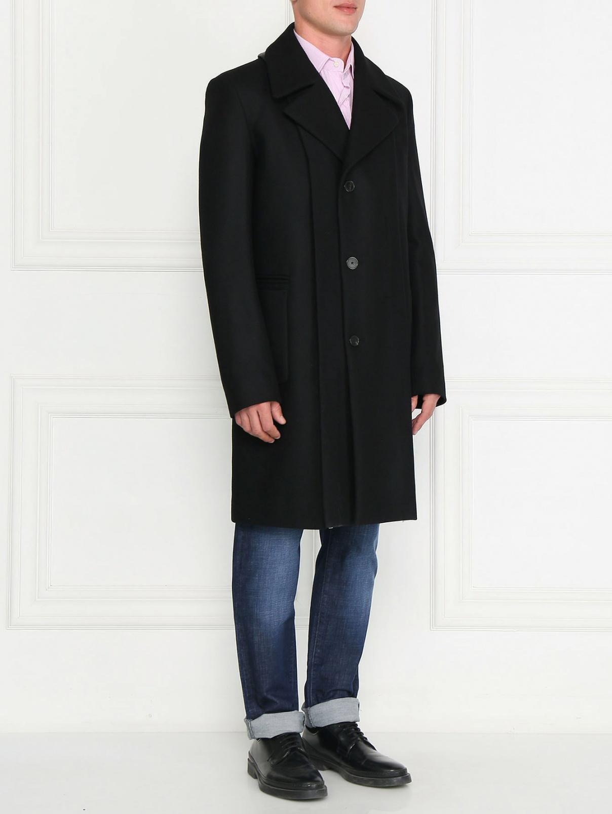 Пальто двубортное из шерсти Jean Paul Gaultier  –  Модель Общий вид