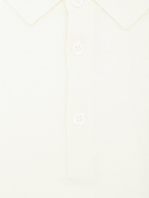 Поло из шелка и хлопка Kangra Cashmere - Деталь