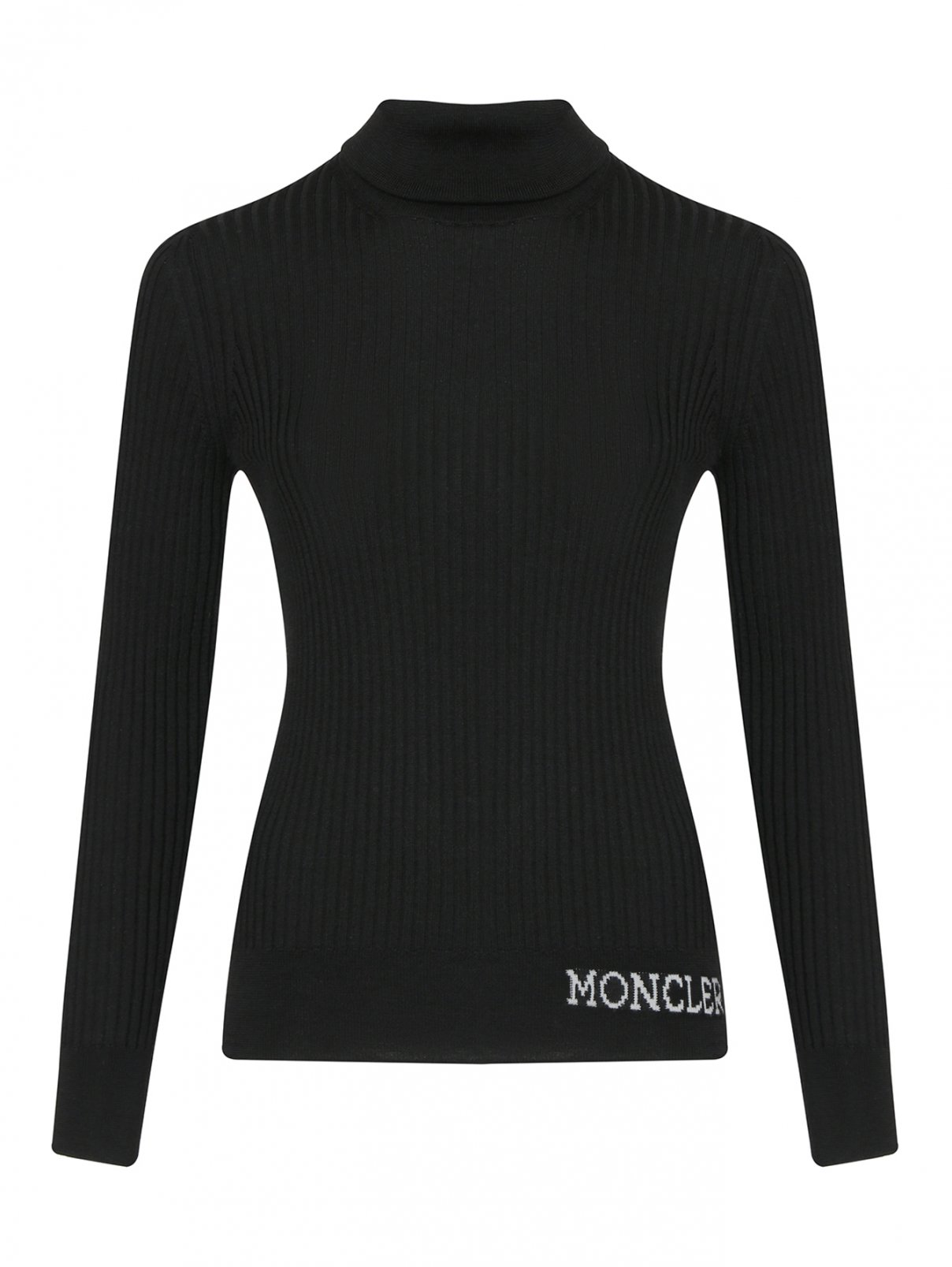 Водолазка из шерсти в рубчик Moncler  –  Общий вид