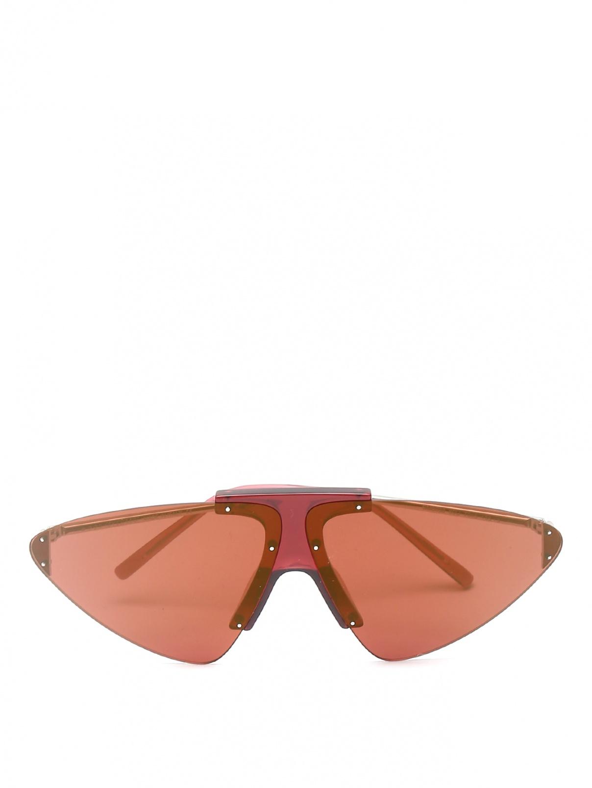 Очки солнцезащитные с металлическими дужками Max Mara  –  Общий вид