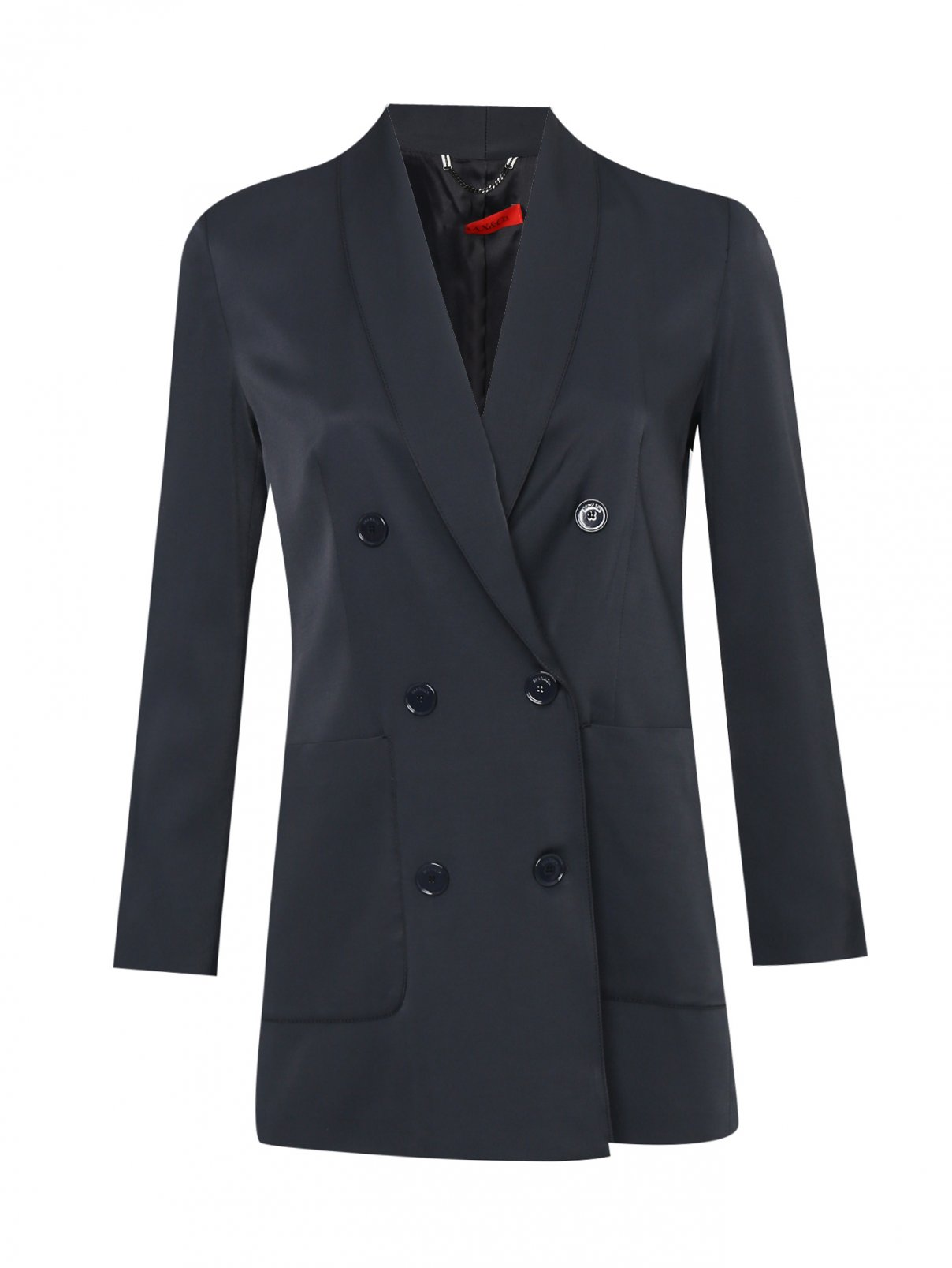 Жакет из вискозы с накладными карманами Max&Co  –  Общий вид