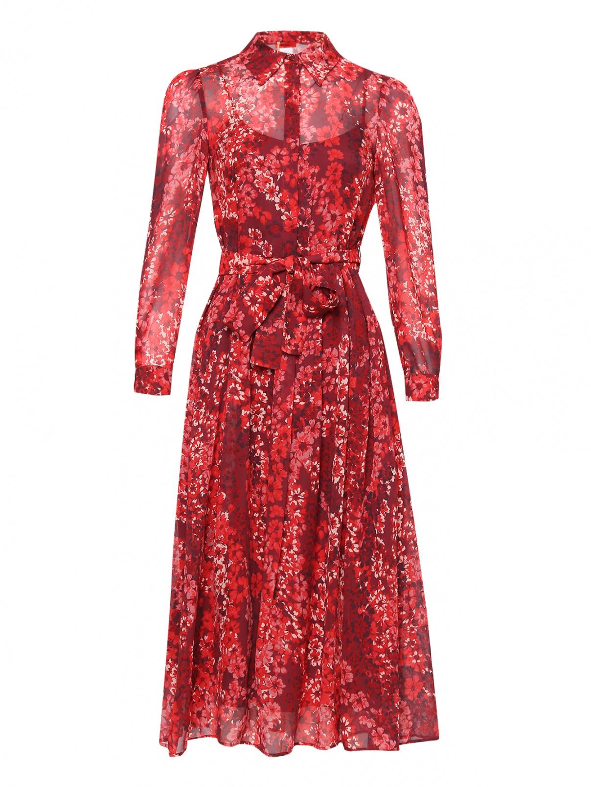 Платье-миди с цветочным узором Max&Co  –  Общий вид