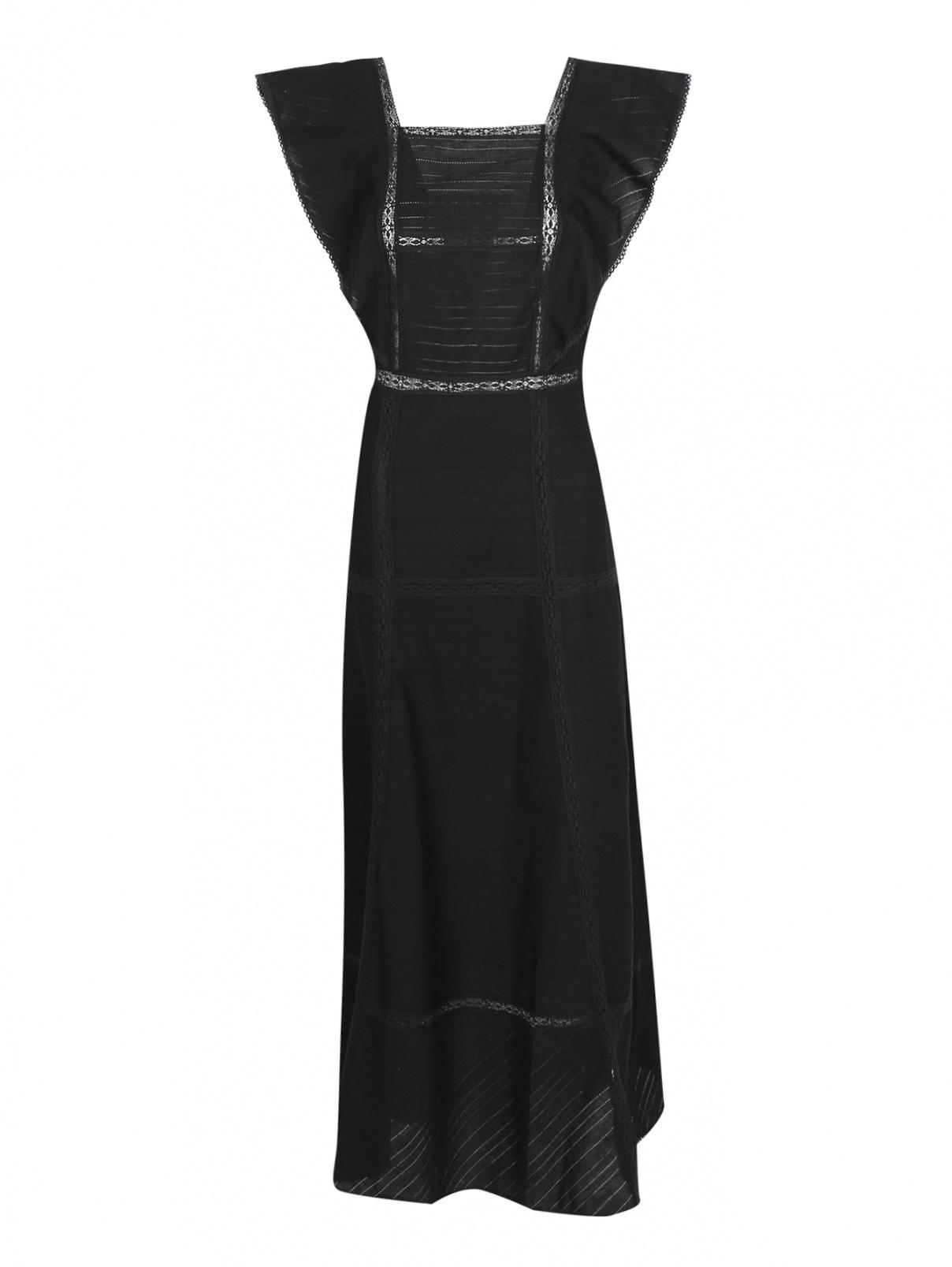 Платье макси из хлопка с вставками из кружева Paul&Joe Sister  –  Общий вид