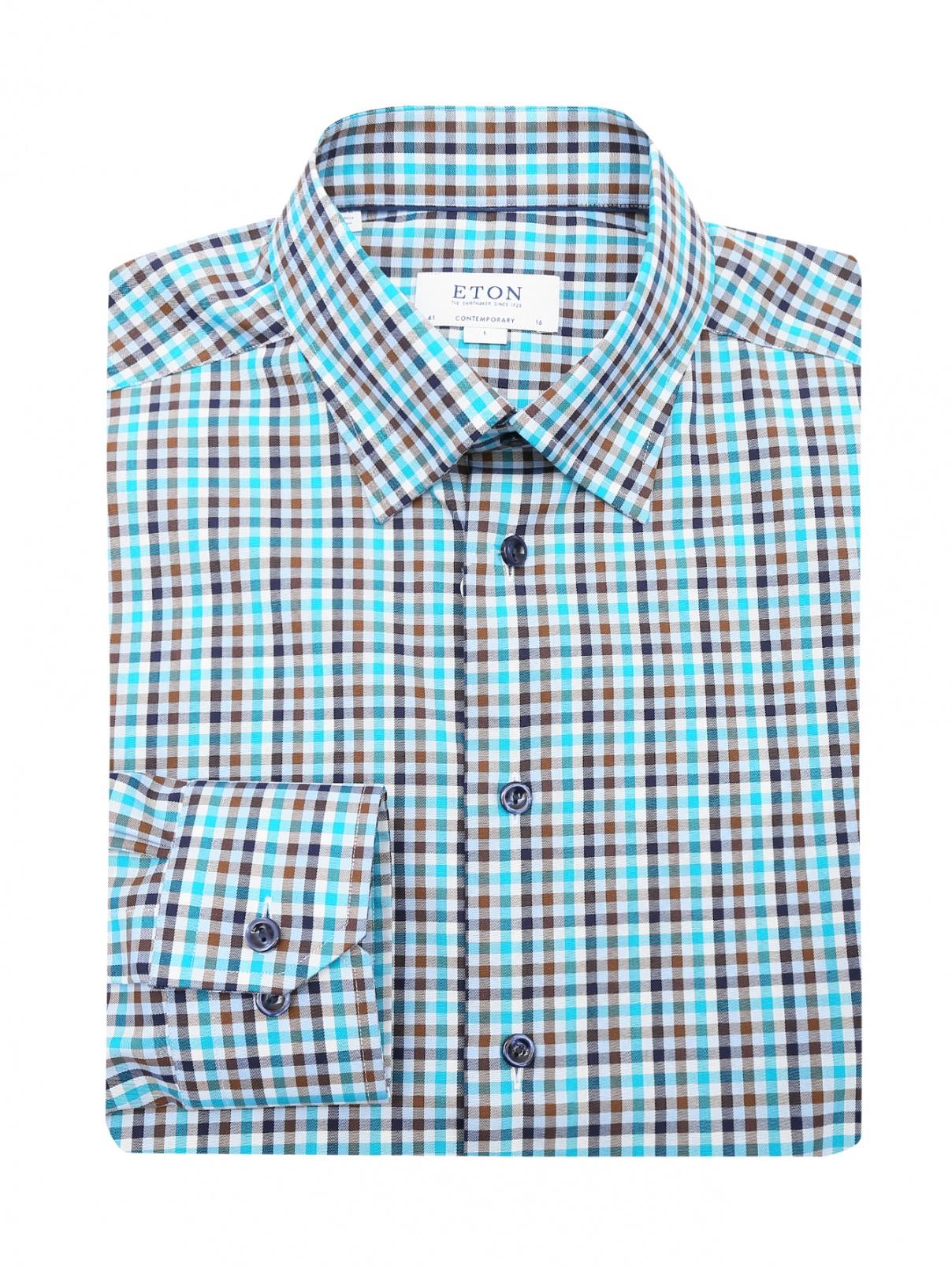 """Рубашка из хлопка с узором """"клетка"""" Eton  –  Общий вид"""
