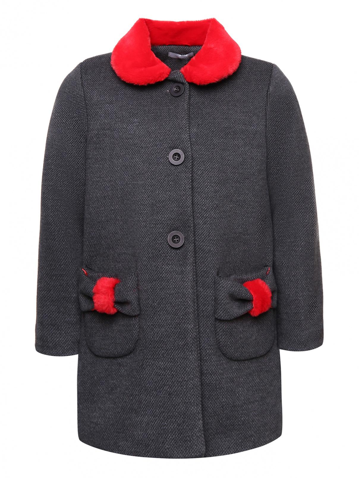 Пальто с отложным воротником и карманами Nanan  –  Общий вид