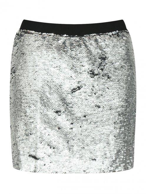 Мини юбка в пайетку - Общий вид