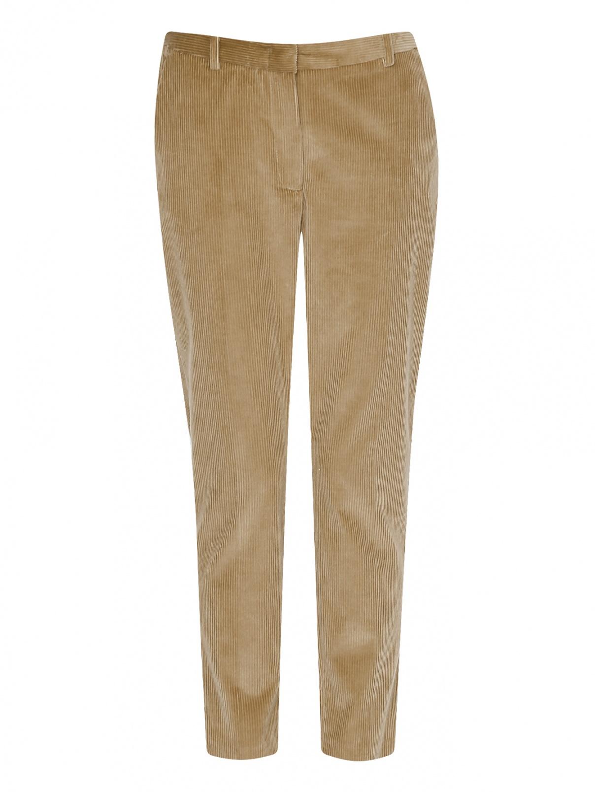 Вельветовые брюки зауженного кроя Weekend Max Mara  –  Общий вид