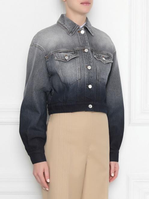 Куртка джинсовая из хлопка Max Mara - МодельВерхНиз