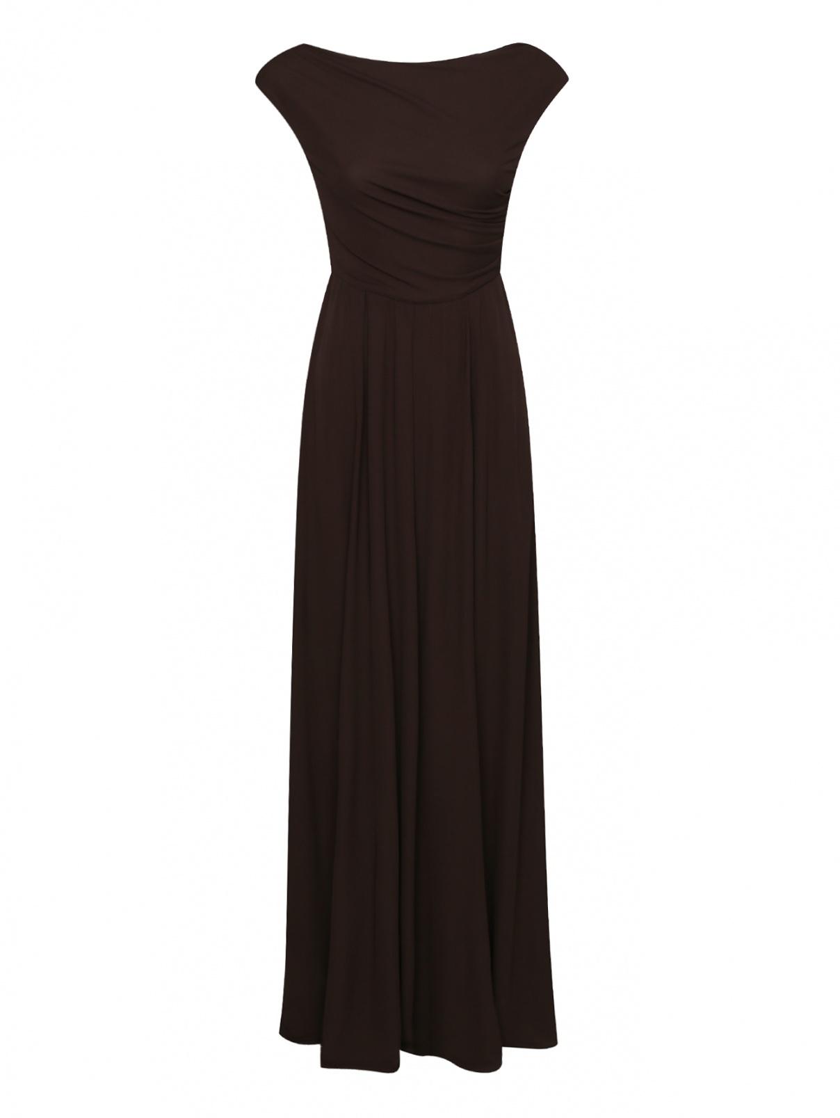 Платье трикотажное с драпировкой и разрезом Max Mara  –  Общий вид