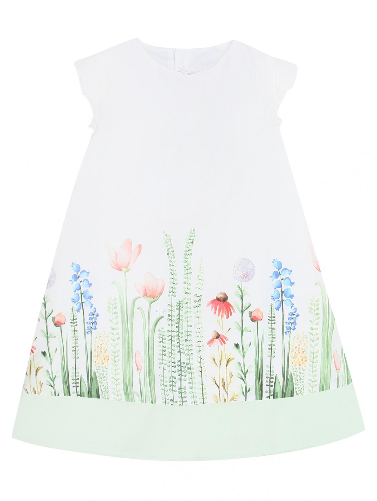 Хлопковое платье с узором Il Gufo  –  Общий вид