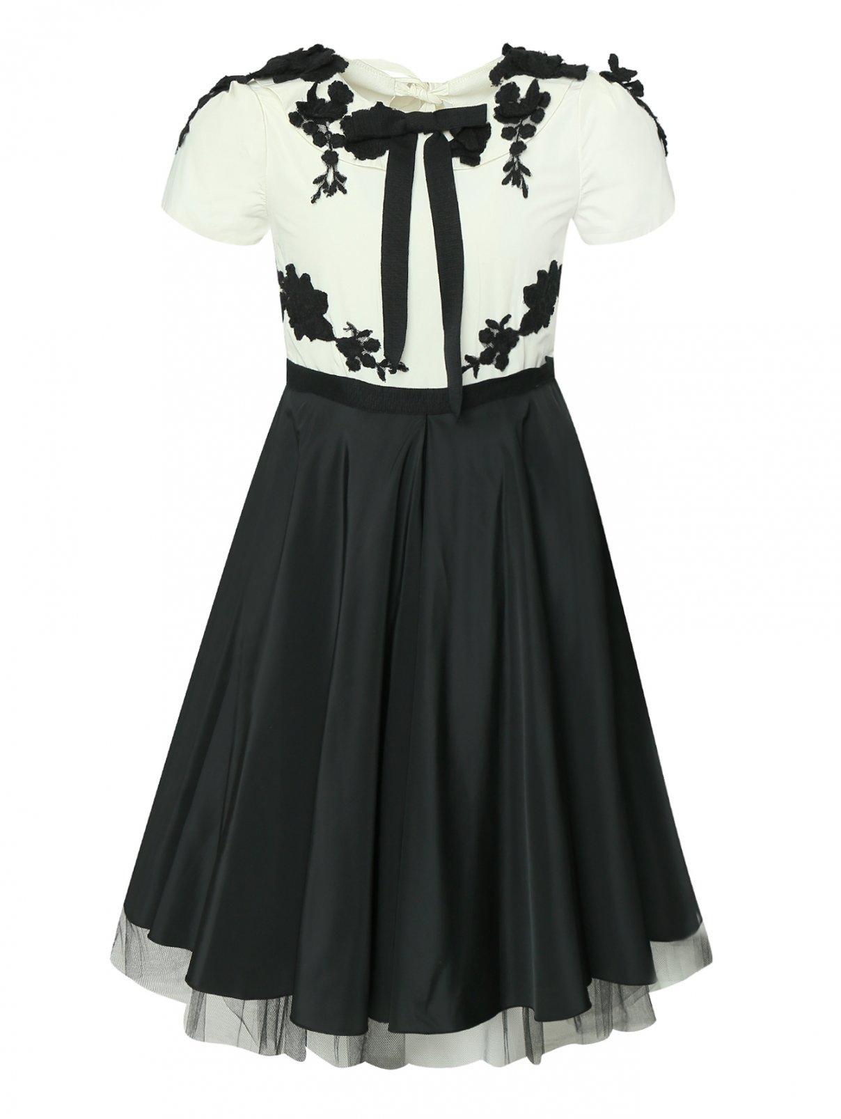 Платье с кружевной аппликацией Rhea Costa  –  Общий вид