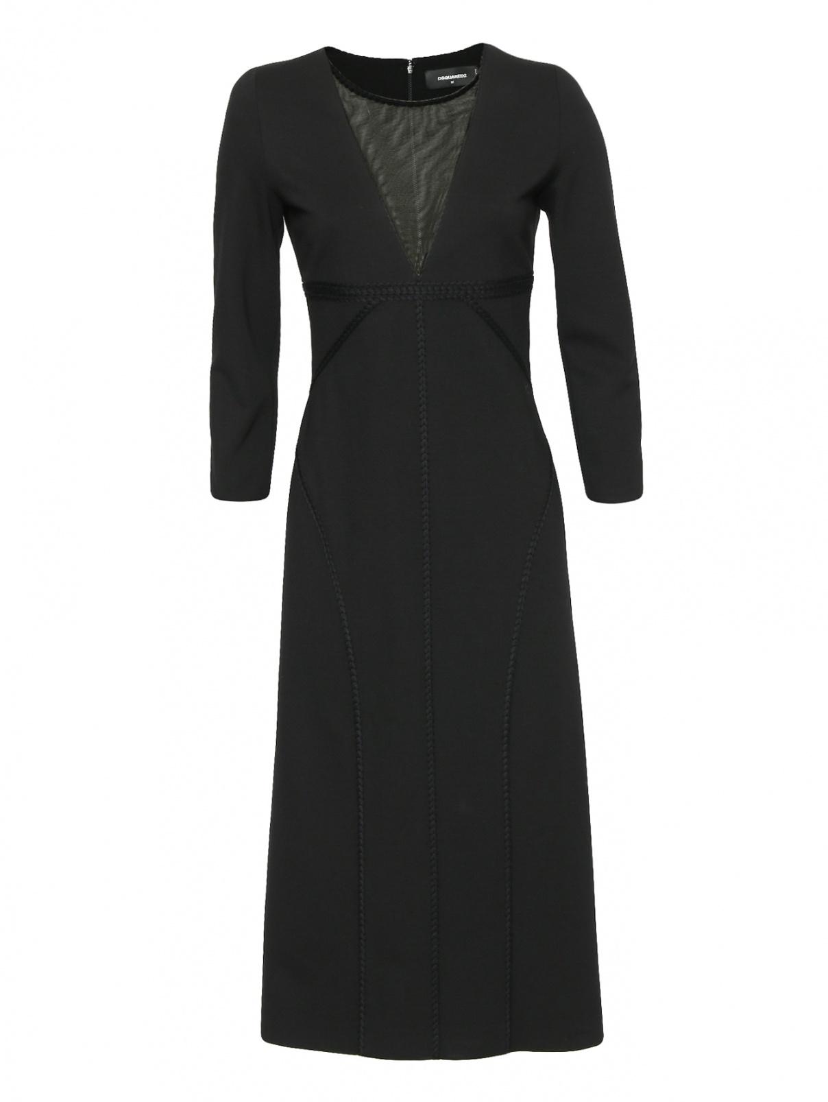 Платье-футляр с контрастной вставкой Dsquared2  –  Общий вид