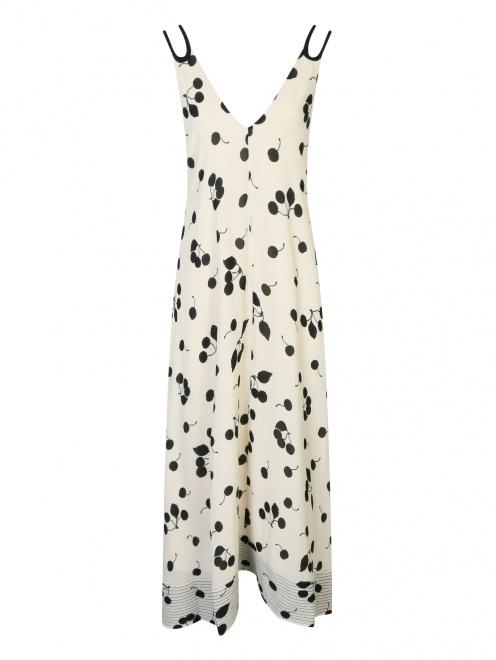 Платье-макси с узором на бретелях 3.1 Phillip Lim - Общий вид