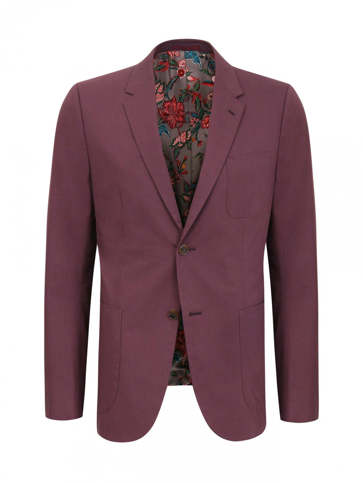 Пиджак из хлопка с контрастным подкладом Gucci  –  Общий вид