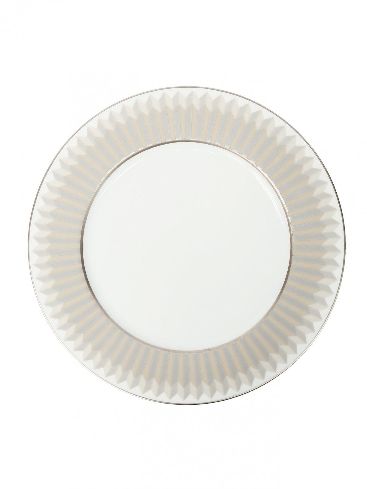 Тарелка обеденная с геометрическим узором Haviland  –  Общий вид