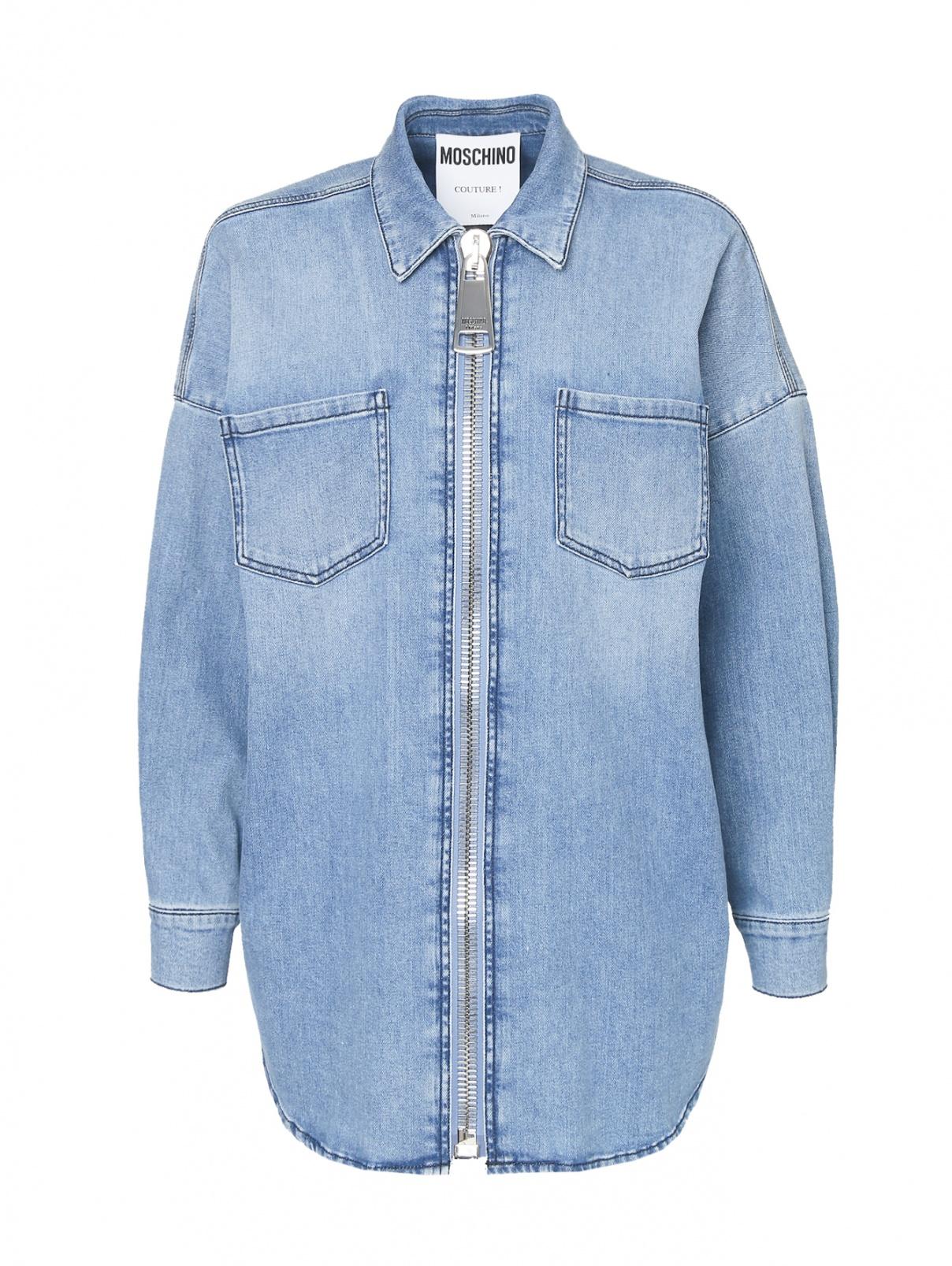 Куртка из денима на молнии Moschino  –  Общий вид