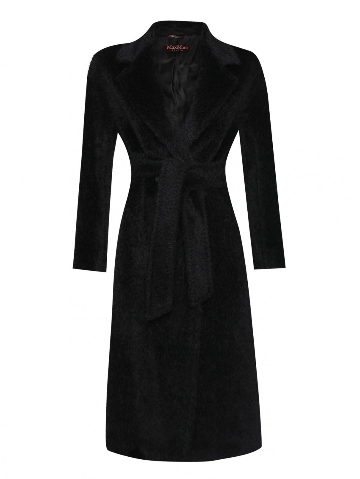 Пальто из шерсти с поясом Max Mara  –  Общий вид
