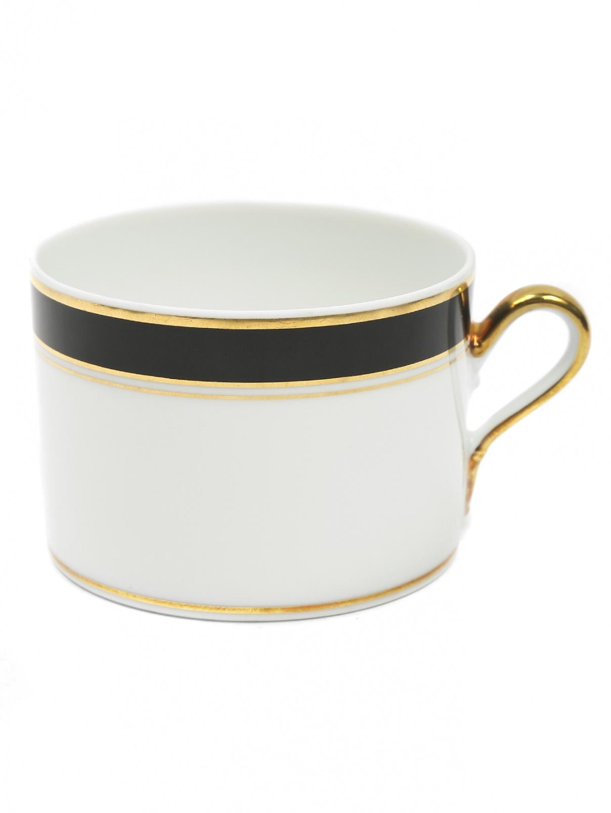 Чайная чашка с широкой черной окантовкой и золотой каймой Richard Ginori 1735  –  Общий вид