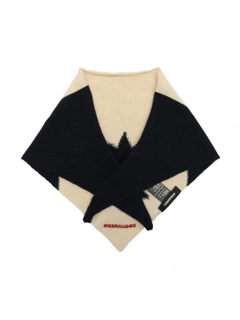 Бандана из шерсти с узором Dsquared2 - Общий вид