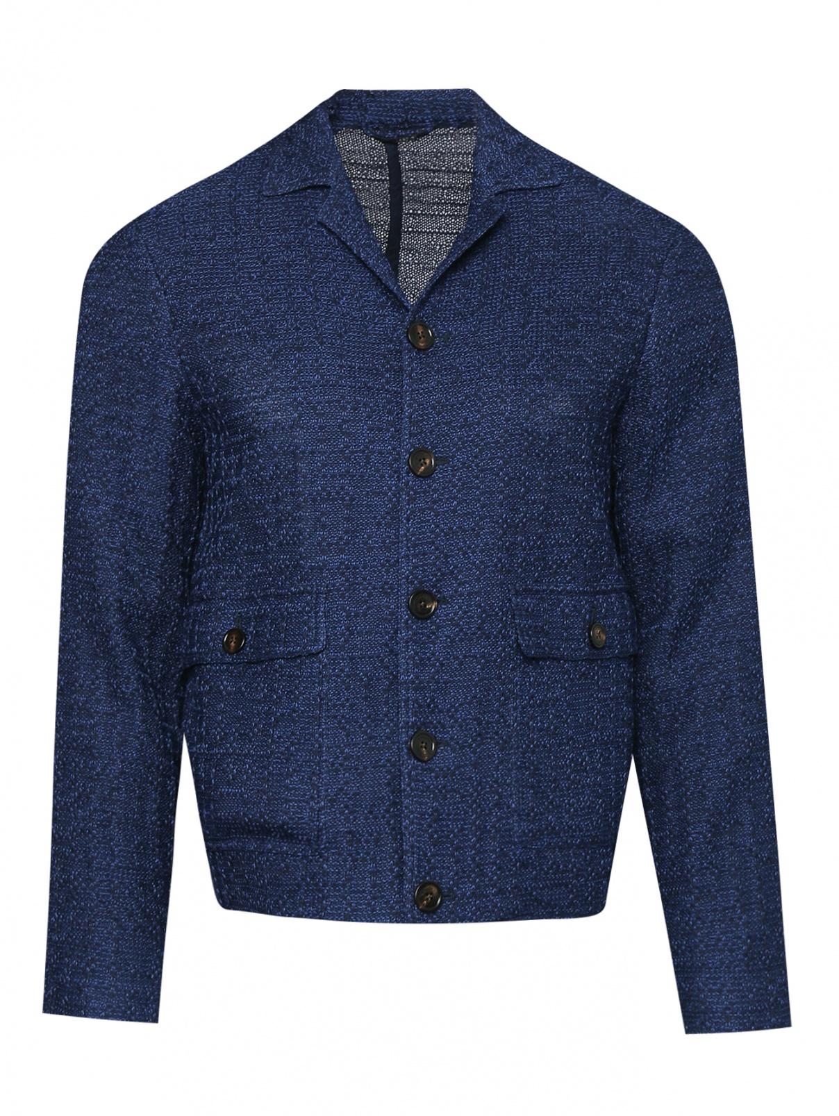 Пиджак из хлопка с накладными карманами LARDINI  –  Общий вид