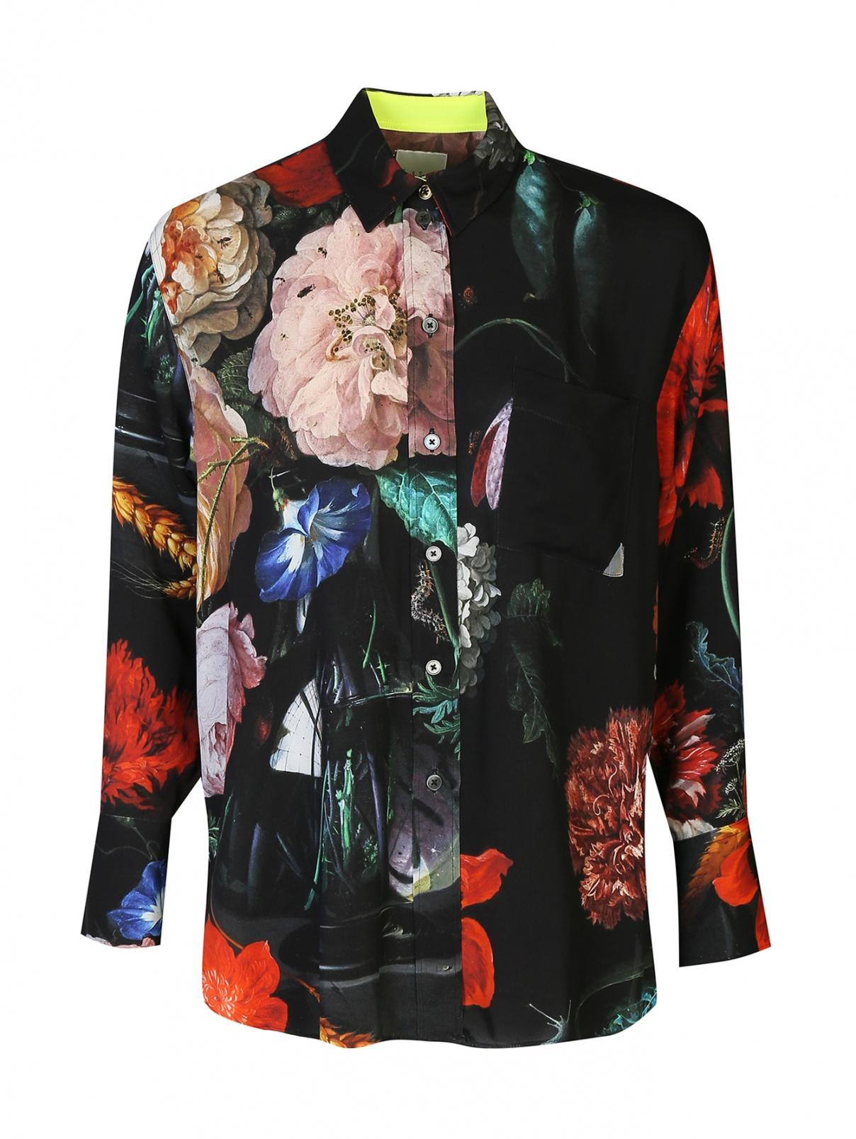 Блуза с цветочным принтом Paul Smith  –  Общий вид