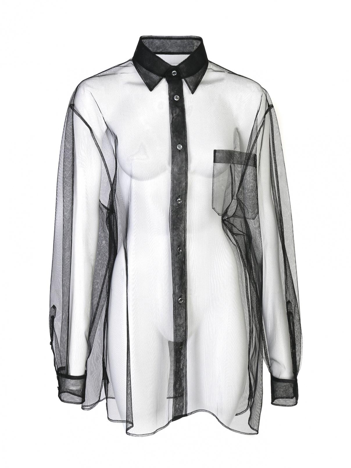 Удлиненная прозрачная блуза Maison Martin Margiela  –  Общий вид