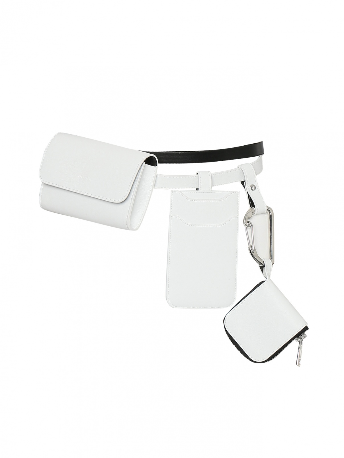 Ремень из гладкой кожи с поясными сумочками Sportmax  –  Общий вид