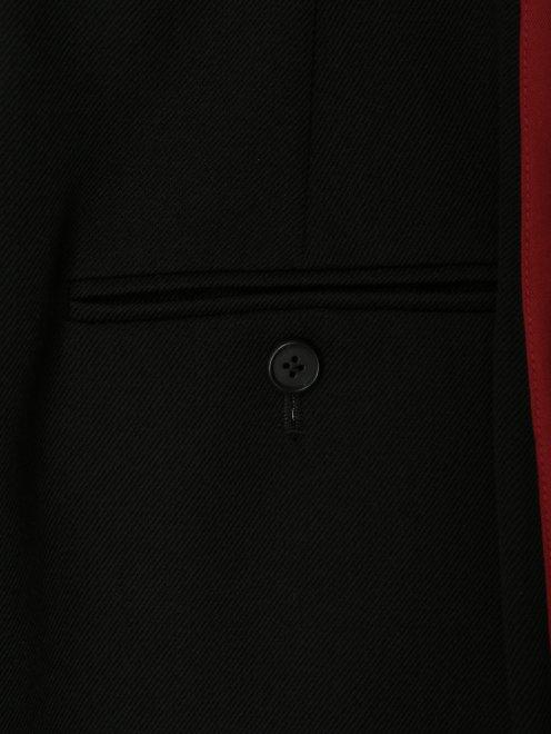Юбка из шерсти с контрастной отделкой  - Деталь