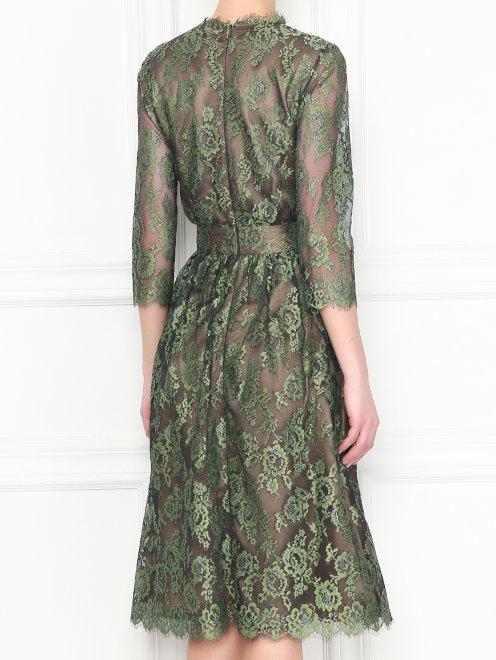 Платье-миди из кружева с рукавами 3/4 Akhmadullina Dreams - МодельВерхНиз1
