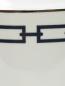 Ваза из фарфора с орнаментом  и серебряной окантовкой Ginori 1735  –  Деталь