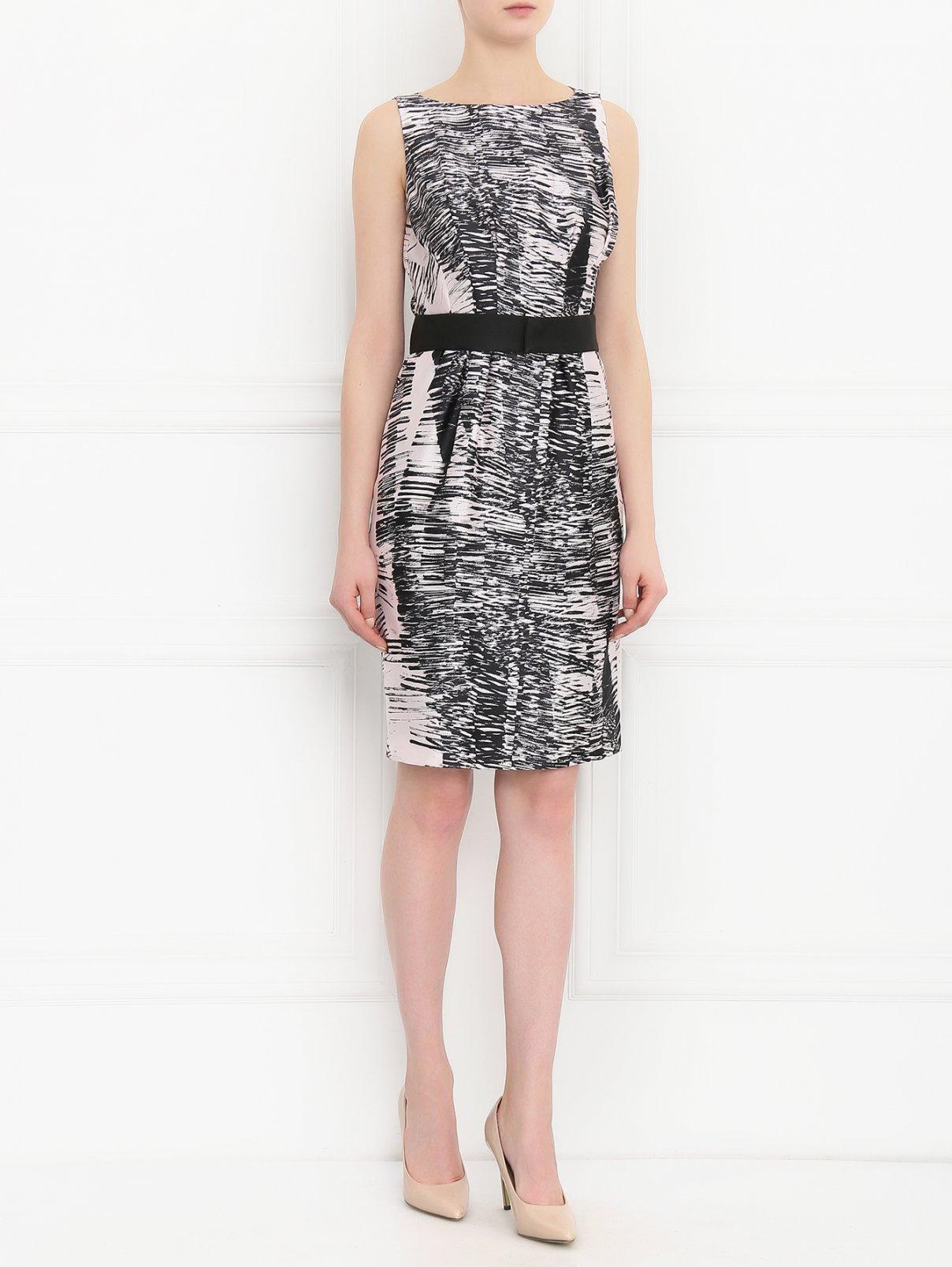 Платье из шелка с узором Max Mara  –  Модель Общий вид