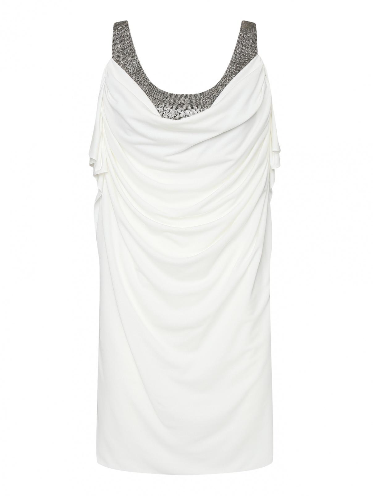 Платье-мини декорированное стразами Philosophy Di Lorenzo Serafini  –  Общий вид