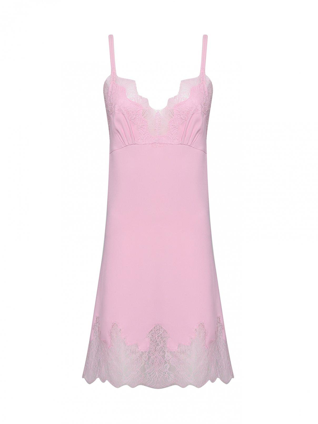 Платье-комбинация с кружевной отделкой Ermanno Scervino  –  Общий вид