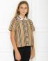 Блуза из хлопка в полоску Burberry  –  МодельВерхНиз