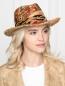 Соломенная шляпа с узором Etro  –  МодельОбщийВид