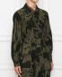 Куртка из хлопка и вискозы с узором Marina Rinaldi  –  МодельВерхНиз