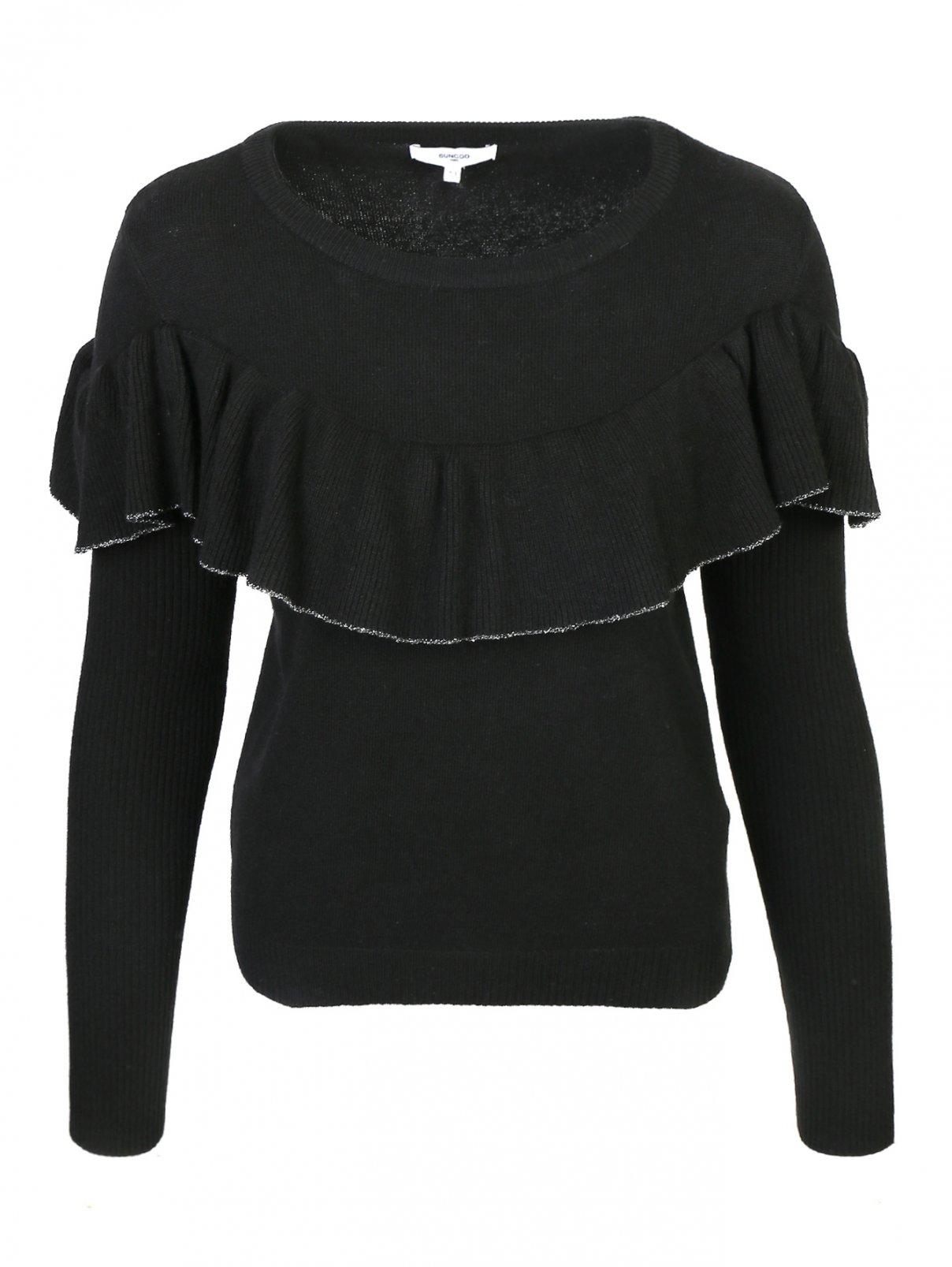 Джемпер из смешанной шерсти и хлопка с вышивкой Suncoo  –  Общий вид