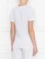 Базовая футболка из хлопка на бретелях La Perla  –  МодельВерхНиз1