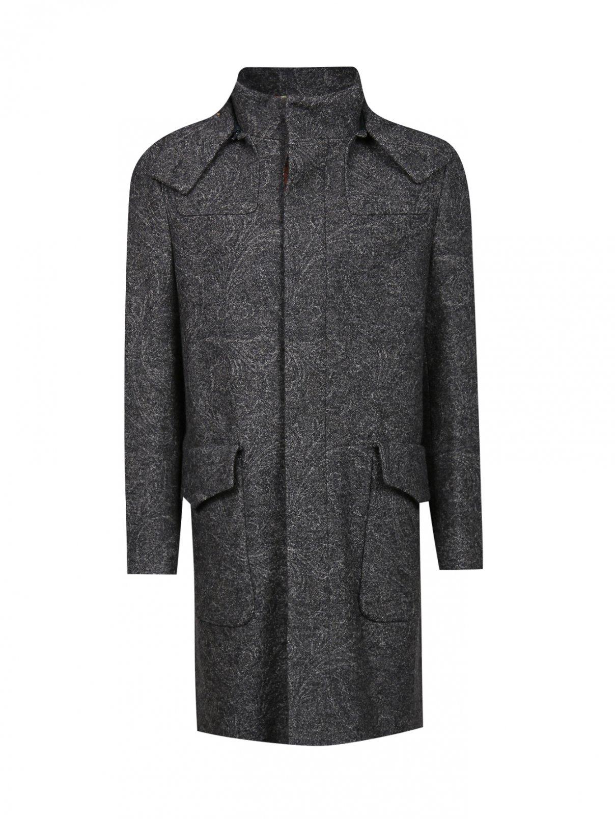Пальто из шерсти с узором Etro  –  Общий вид