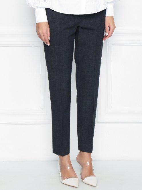 Укороченные брюки из шерсти со стрелками - МодельВерхНиз