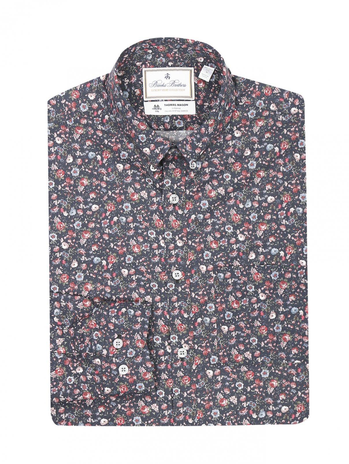 Рубашка из хлопка с узором Brooks Brothers  –  Общий вид