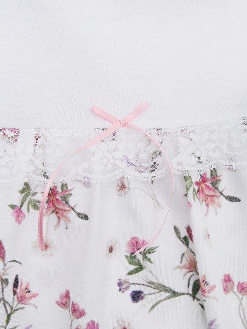 Пижама с цветочным узором La Perla - Деталь